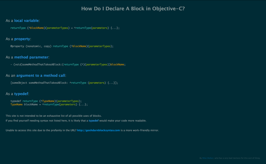 How Do I Declare A Block in Objective-C?